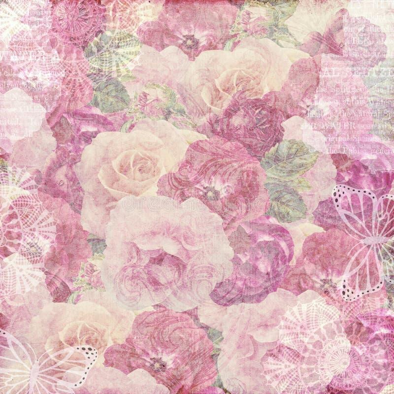 Fondo de papel sucio de la flor libre illustration