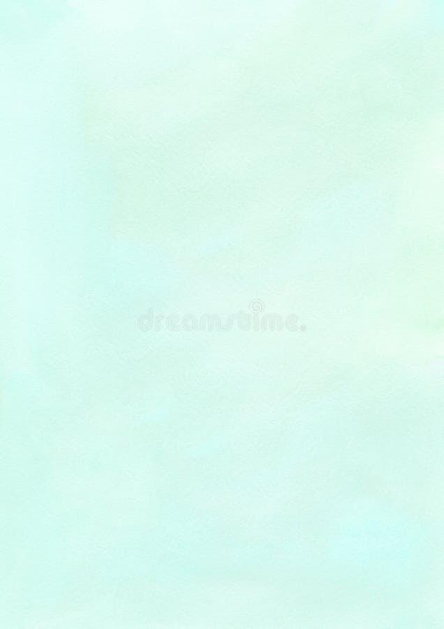Fondo de papel texturizado acuarela del verde menta del cepillo de la tinta fotografía de archivo libre de regalías