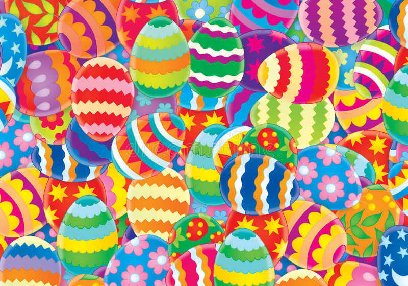 Fondo de Pascua stock de ilustración