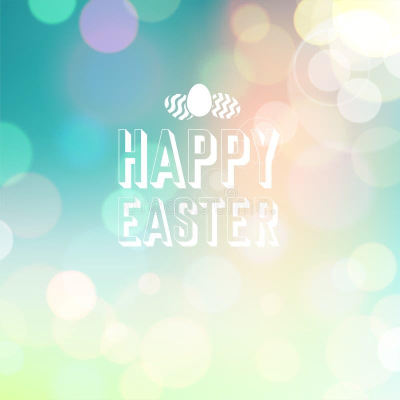 Fondo de Pascua Bokeh stock de ilustración