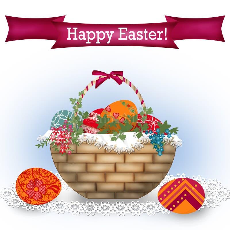 Fondo de Pascua con el texto ilustración del vector