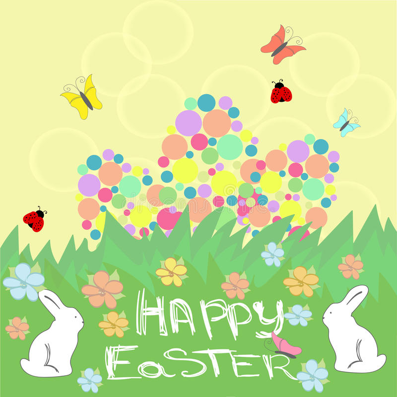 Fondo de Pascua con el texto feliz de Pascua libre illustration