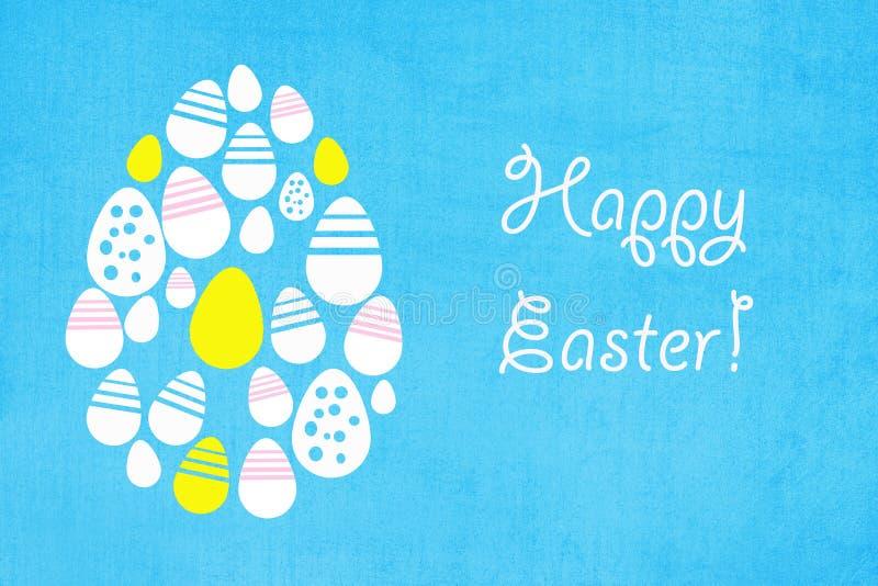 Fondo de Pascua con los huevos coloreados imágenes de archivo libres de regalías