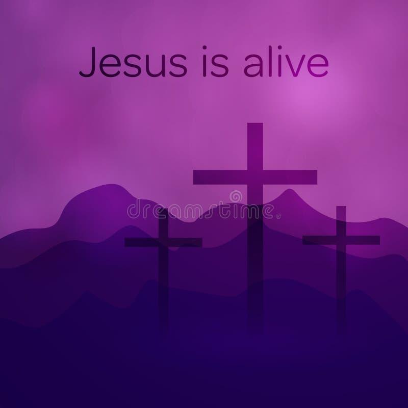 Fondo de Pascua - cruces ilustración del vector