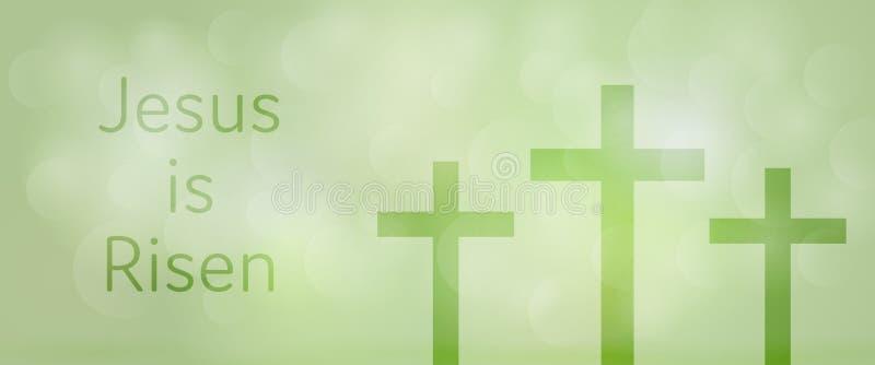 Fondo de Pascua - suben a Jesús stock de ilustración