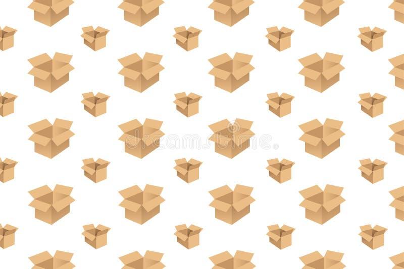 Fondo de patrón de caja de cartón abierto - ilustración libre illustration