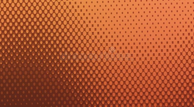 Fondo de patrón de medio tono de color marrón, fondo de puntos imágenes de archivo libres de regalías