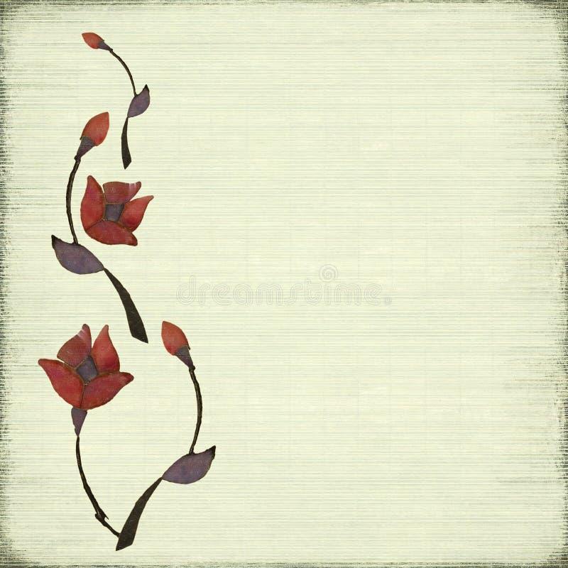 Fondo de piedra del diseño de la flor imagenes de archivo