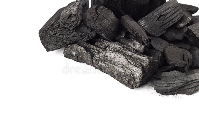 Fondo de piedra mineral del carbón aislado en blanco imagenes de archivo