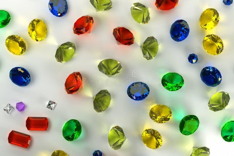 Fondo de piedras preciosas stock de ilustración