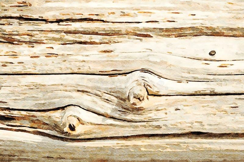 Fondo de pintura del día de fiesta del grunge de la acuarela de tablones de madera viejos fotografía de archivo