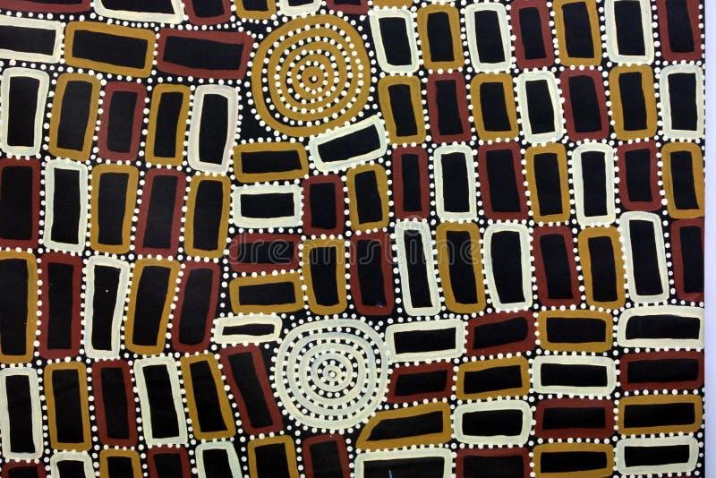 Fondo de pintura del punto australiano indígena del arte imagenes de archivo