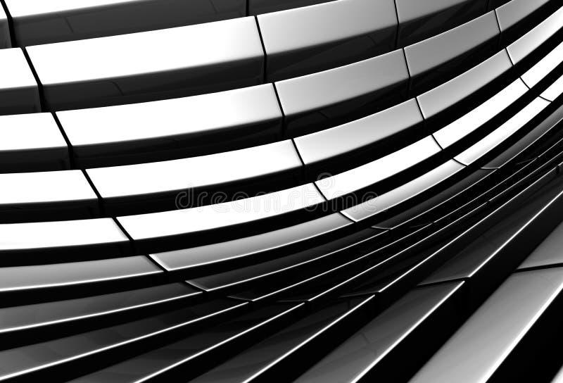 Fondo de plata abstracto de aluminio del modelo de la raya ilustración del vector