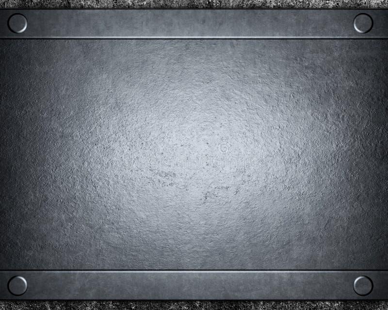 Fondo de plata aplicado con brocha del metal fotografía de archivo