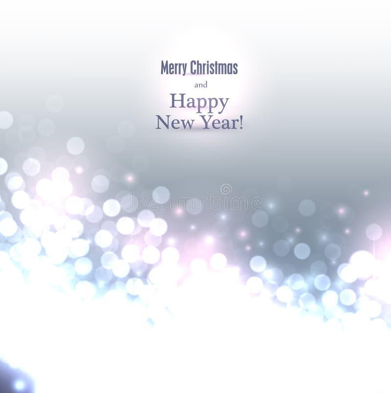 Fondo de plata de la Navidad. stock de ilustración