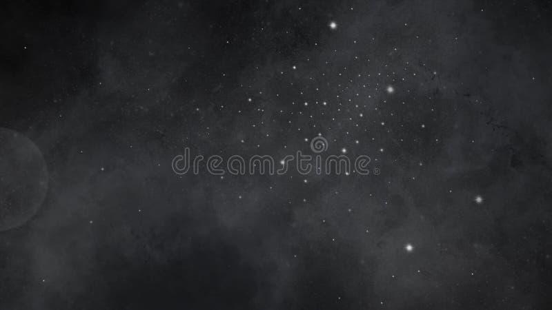 Fondo de plena pantalla de la plantilla del cielo nocturno del arte stock de ilustración