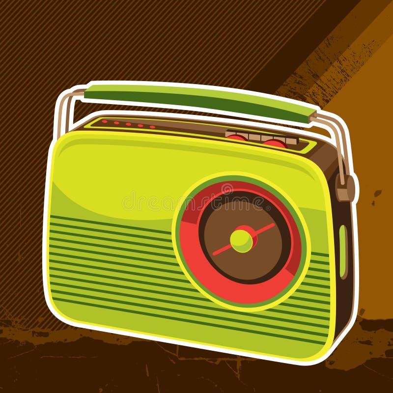 Fondo de radio retro diseñado stock de ilustración