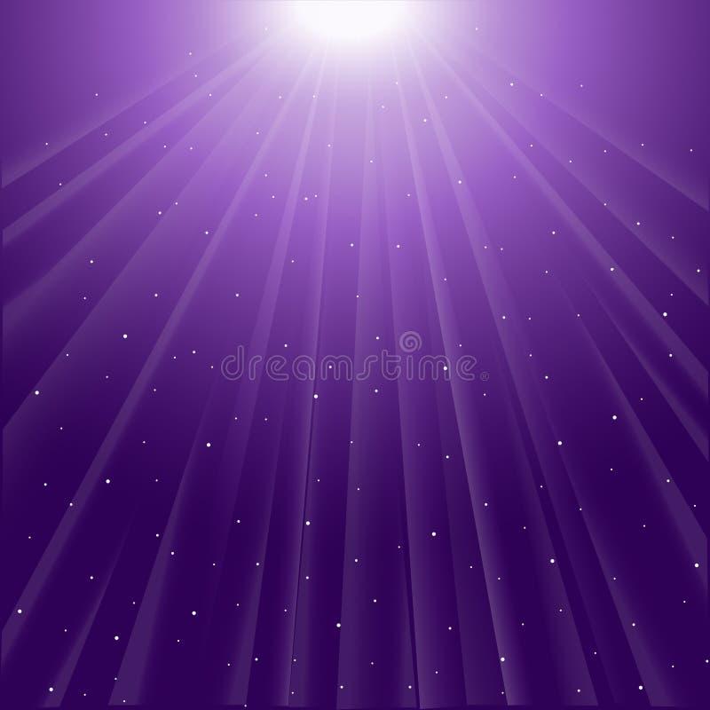 Fondo de rayos luminosos púrpuras stock de ilustración