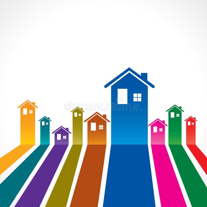 Fondo de Real Estate para el concepto de la propiedad de la venta ilustración del vector