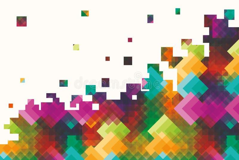 Fondo de Rhombus iridiscentes multicolores stock de ilustración