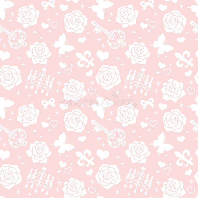 Fondo de Rose stock de ilustración