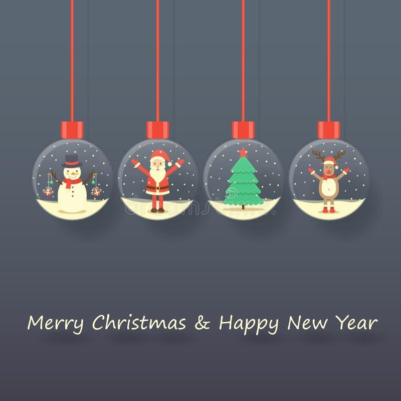 Fondo de Santa Claus de la Navidad stock de ilustración