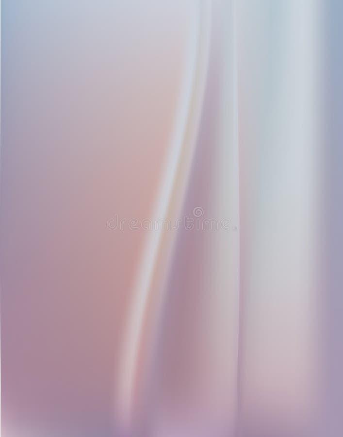 Fondo de seda abstracto con las ondas elegantes que cubren Fucsia de la lila Plisados de lujo púrpuras elegantes de la suavidad ilustración del vector