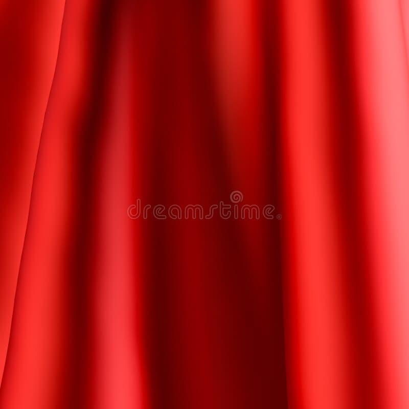 Fondo de seda rojo stock de ilustración