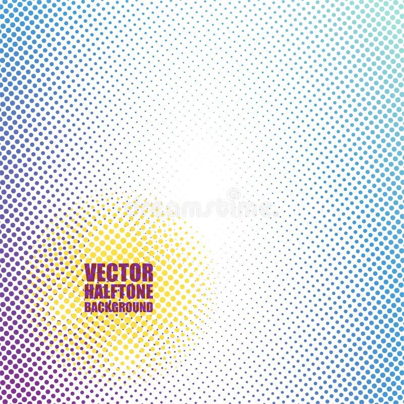 Fondo de semitono abstracto ilustración del vector