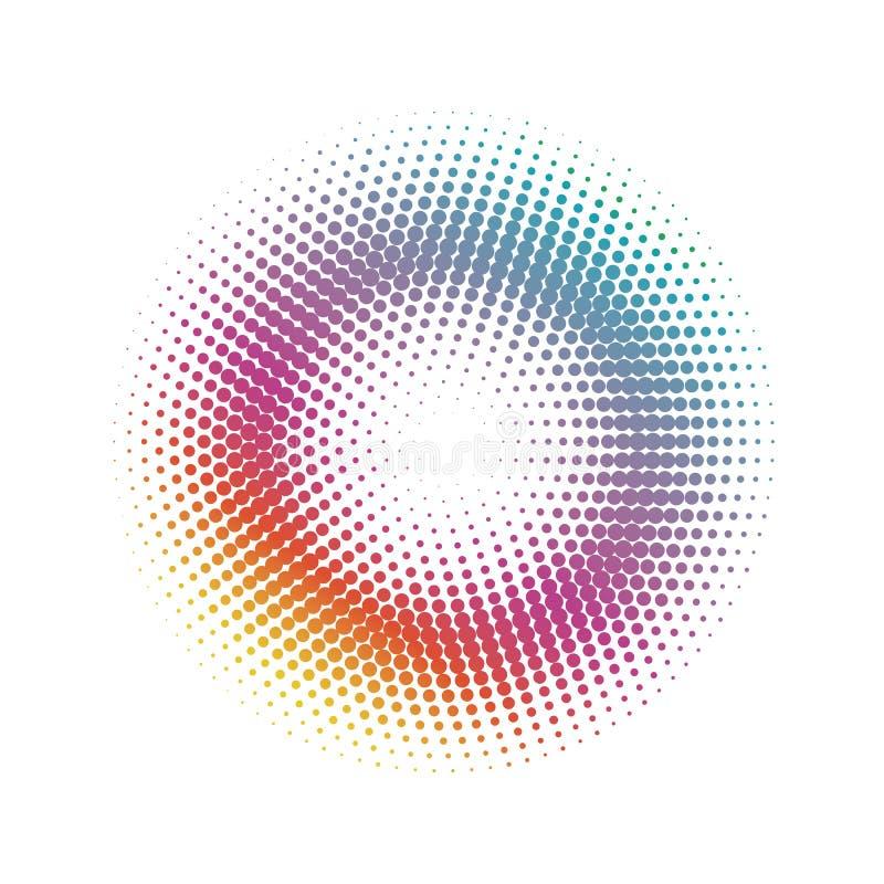 Fondo de semitono abstracto del modelo de puntos del círculo stock de ilustración