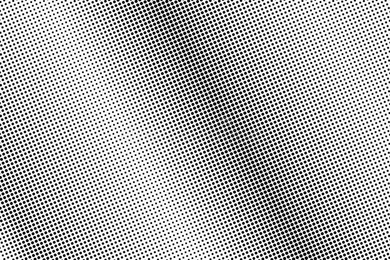 Fondo de semitono blanco y negro del vector Pendiente diagonal del punto Superficie ?spera del dotwork Frecuente el tono medio pu libre illustration