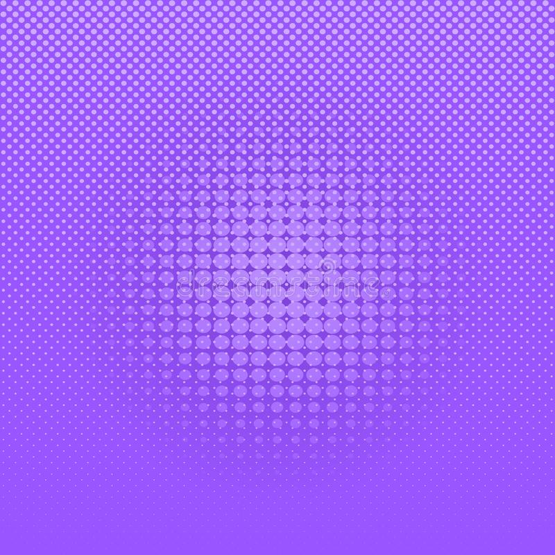Fondo de semitono cómico púrpura de los puntos del extracto ilustración del vector