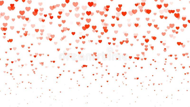 Fondo de semitono del día del ` s de la tarjeta del día de San Valentín del corazón Corazones transparentes rojos en blanco Ilust libre illustration