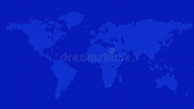 Fondo de semitono del mapa del mundo del modelo del c?rculo ilustración del vector