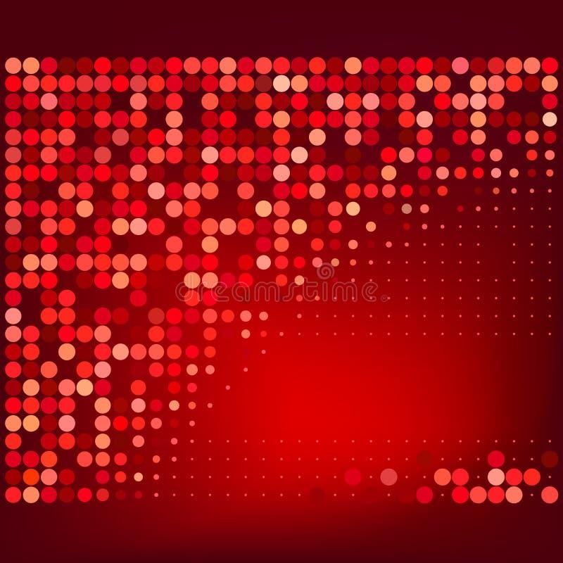 Fondo de semitono rojo abstracto del vector libre illustration