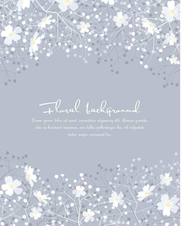 Fondo de siluetas de flores libre illustration
