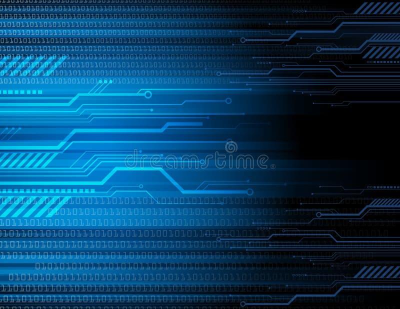 Fondo de Technlogy Digital stock de ilustración