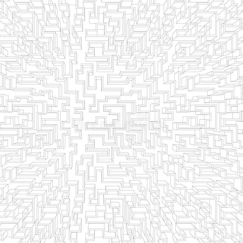 Fondo de tecnología geométrica blanca. Ilustración del vector stock de ilustración