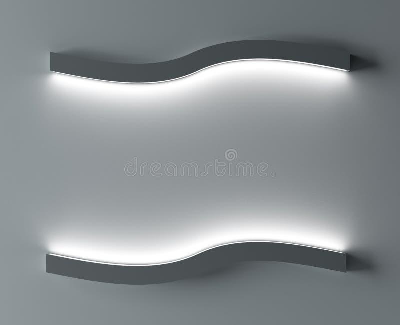 Fondo de un muro de cemento y de una luz en cierre encima del lugar para la cartelera representación 3d libre illustration