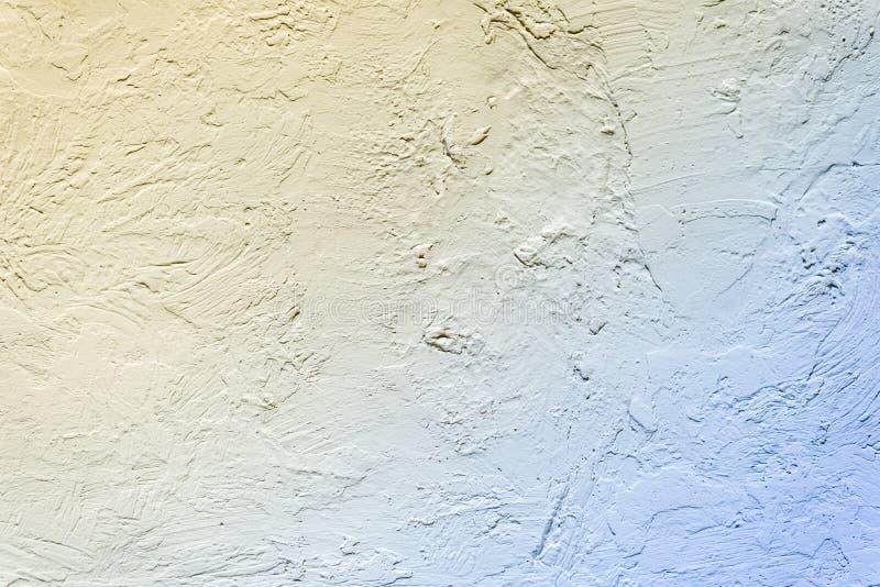 Fondo de una pared amarillo-azul Pendiente del color Marco horizontal imagen de archivo libre de regalías