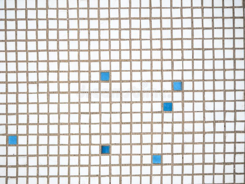 Fondo de una teja cuadrada decorativa blanca para el trabajo externo fotos de archivo libres de regalías