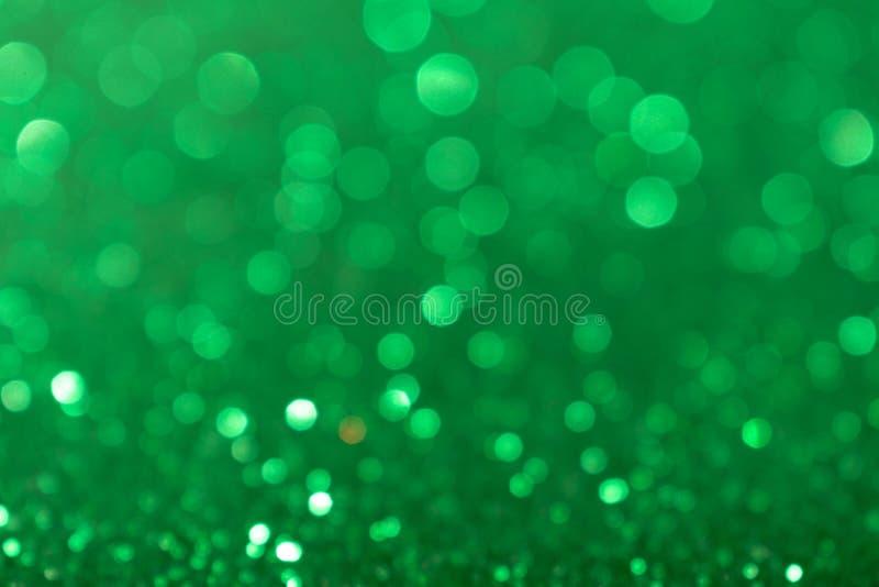 Fondo de Valentine Day Green Glitter del Año Nuevo de la Navidad Tela de la textura del extracto del día de fiesta Elemento, flas fotos de archivo libres de regalías