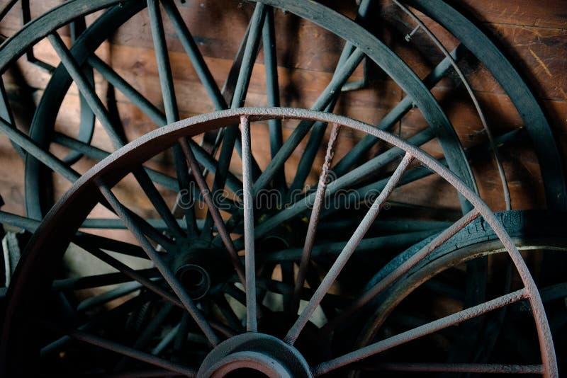 Fondo de Vintage Wheel Wagon del herrero fotos de archivo libres de regalías