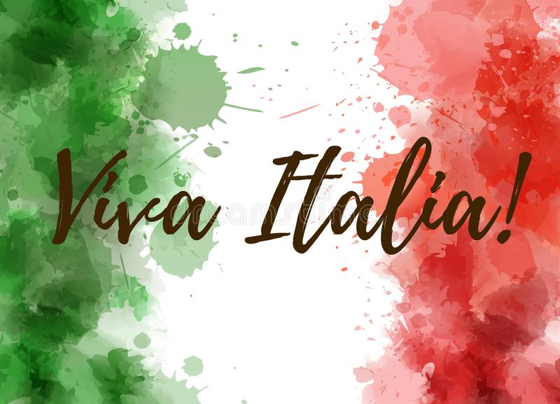 Fondo de Viva Italia ilustración del vector