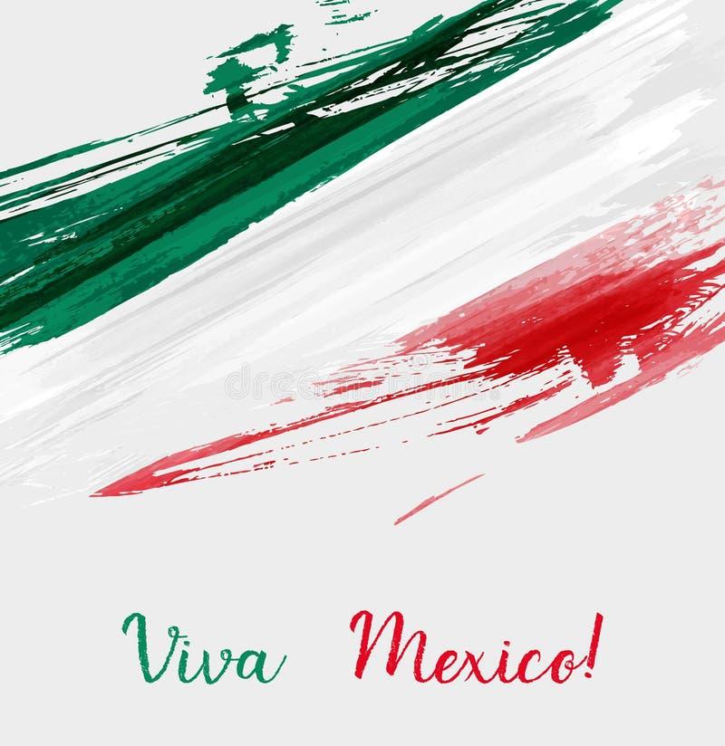 Fondo de Viva Mexico stock de ilustración