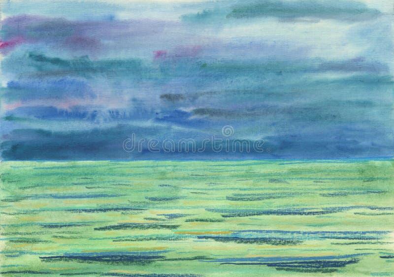 Fondo de Watwrcolor Día brumoso, de niebla libre illustration