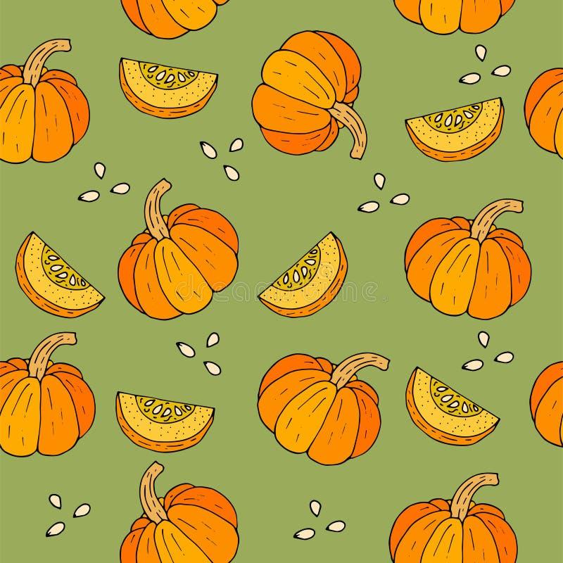 Fondo de WebSeamless Halloween con las calabazas stock de ilustración