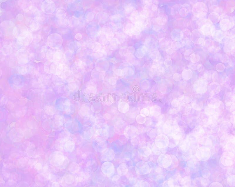 Fondo decorativo abstracto de los elementos redondos blancos en fondo púrpura libre illustration