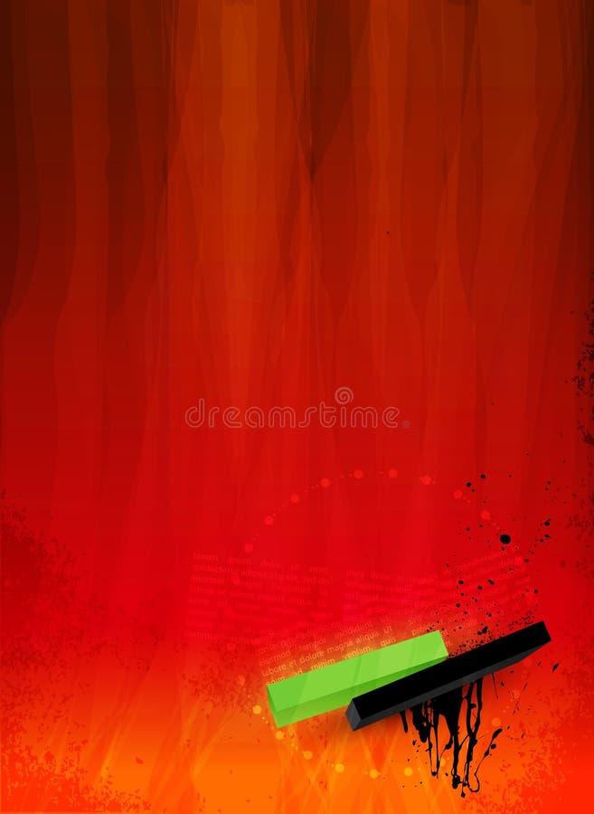 Fondo decorativo abstracto del grunge en pintada ilustración del vector