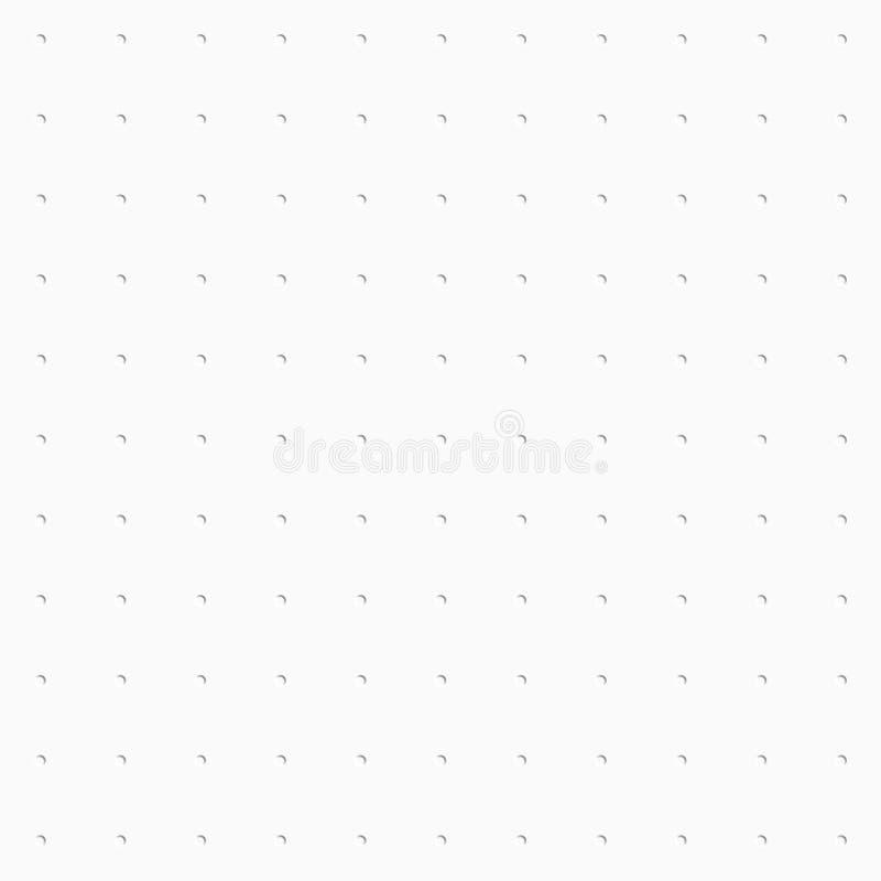 Fondo decorativo blanco Modelo incons?til ilustración del vector